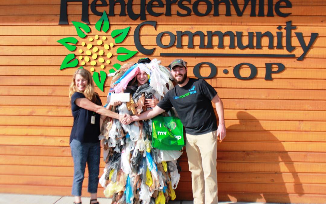 Hendersonville Community Co-op BYOBag Program Makes Donation to MountainTrue