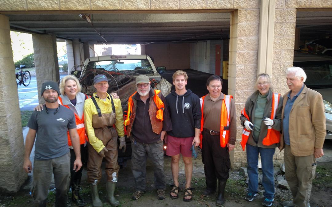 MountainTrue Volunteers Help  Clean-up Section of Wash Creek