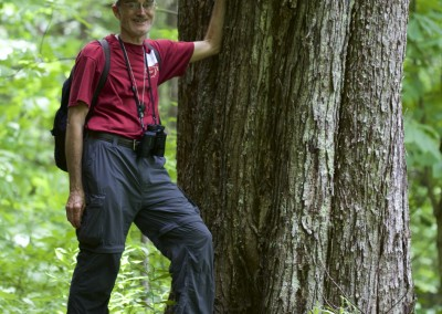 Bob with large red maple