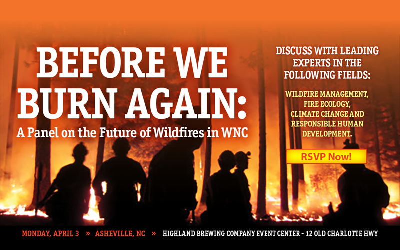 MountainTrue and Asheville Citizen-Times present 'Before We Burn Again: A Panel on the Future of Wildfires in WNC'