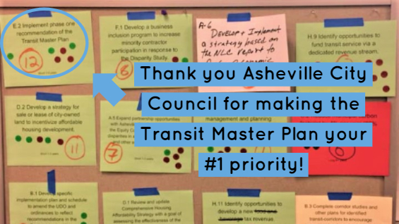 Thank Asheville City Council for Making Public Transit Their #1 Priority!